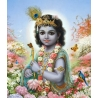 Krishna im Wald von Vrindavan