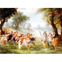 Krishna mit den Gopas