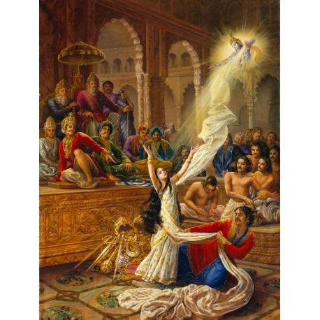The attempted disrobing of Draupadi (Poster gr.)