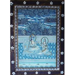 Dvaraka (handgemalt auf Seide)