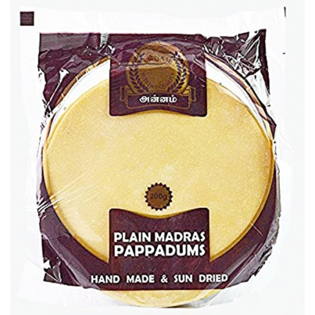 Papadams plain 200g