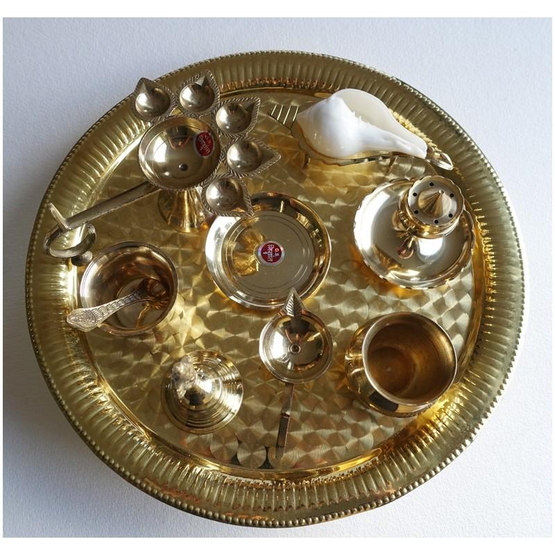 Arati Puja Set - Maxi Ø 35,5 cm Temple Size