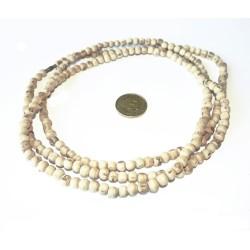 Neckbeads Halskette Tulsi 3fach Natur mit dicken Perlen