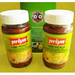 Priya Lime Pickle 2 X (without garlic - ohne Knoblauch)