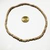 Halskette Neckbeads (Tulsi) 1fach mitteldick rund geschliffen