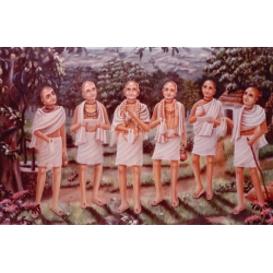 Die sechs Goswamis (Foto-Postkarte)