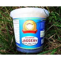Jaggery White (500g) Zuckerrohrzucker weiß Gaur Sugar