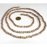 Halskette Neckbeads (Tulsi) 3fach groß Natur