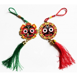 Jagannath Anhänger Grün (10cm) Car Hangings