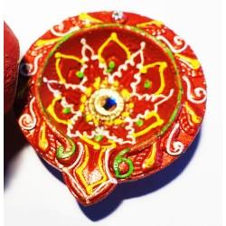 Diya Rot groß dekoriert