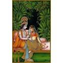 Radha Krishna im Wald