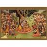 Radha Krishna mit Gopis (Kunstbriefkarte)