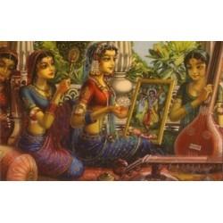 Vrindavan (Kunstbriefkarte groß) Nr. 5