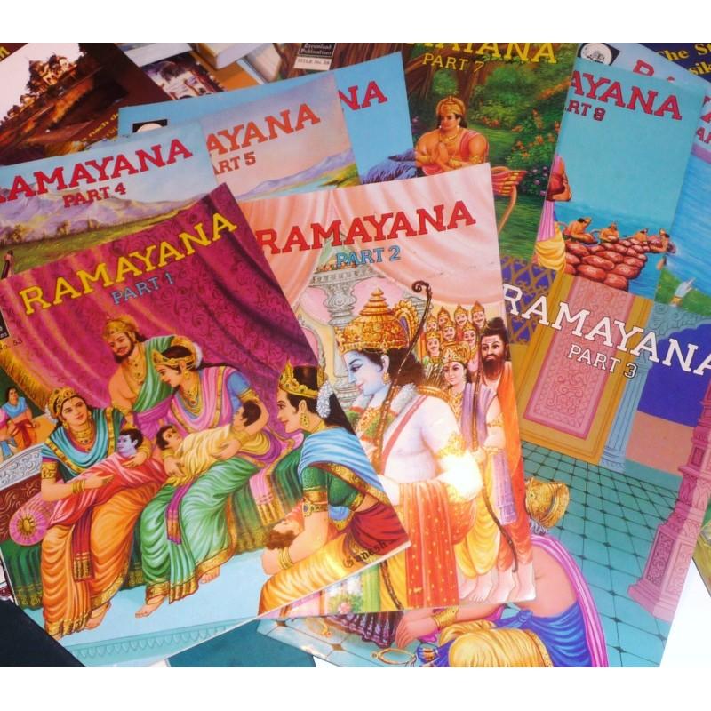 Ramayana für Kinder und Erwachsene Teil I-I2 (engl.) Rarität 1988